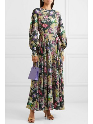 ROTATE BIRGER CHRISTENSEN open-back floral-print crepe maxi dress