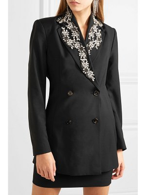 ROTATE BIRGER CHRISTENSEN crystal-embellished wool-blend gabardine blazer