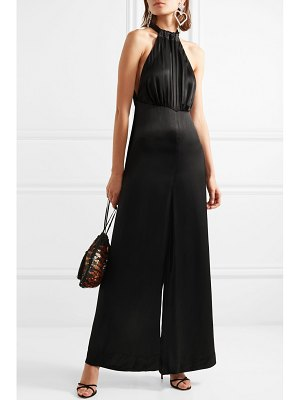 ROTATE BIRGER CHRISTENSEN satin halterneck jumpsuit