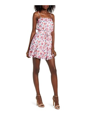 ROW A floral godet hem minidress