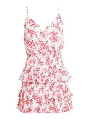 ROW A floral tiered minidress
