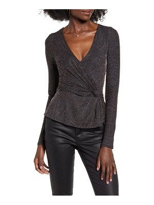 ROW A metallic long sleeve top
