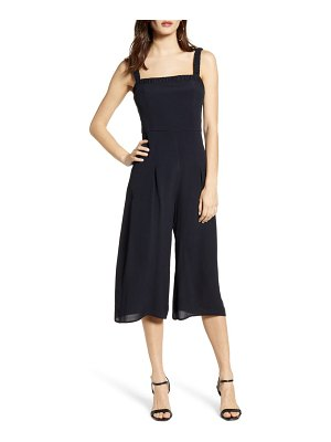 ROW A shirred strap crop jumpsuit