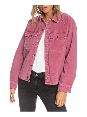 Roxy be right there corduroy shirt jacket