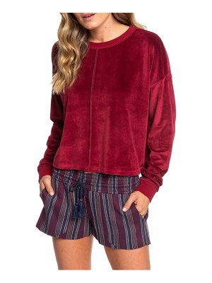 Roxy crystal cove crop velour pullover