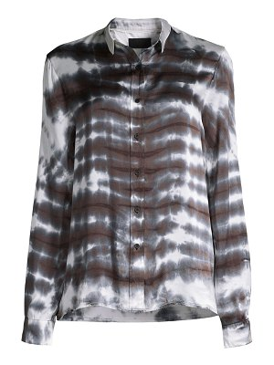 RtA blythe tie-dye button-down shirt