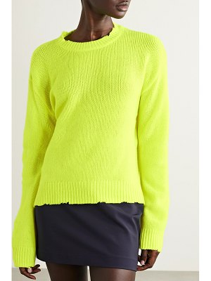 RtA emma distressed neon cashmere sweater