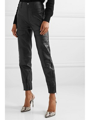 RtA harlan leather tapered pants