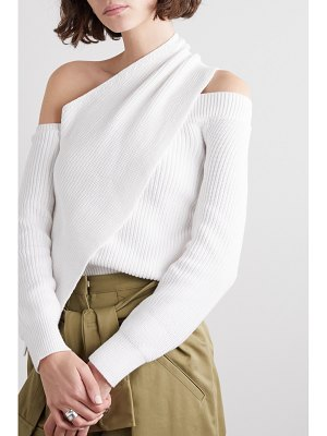 RtA juliet one-shoulder draped cotton sweater