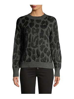 RtA liam metallic leopard sweater