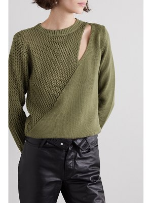 RtA teagan cutout paneled cotton sweater