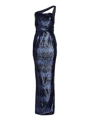 Rubin Singer one-shoulder sequin column gown