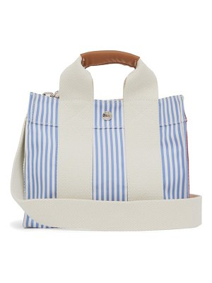 Rue De Verneuil baby s3 patchwork striped canvas tote bag