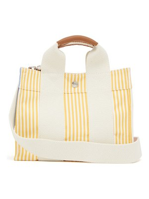 Rue De Verneuil baby s3 striped leather-trim canvas tote bag