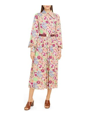 Runway Marc Jacobs belted wildflower print jersey shirtdress