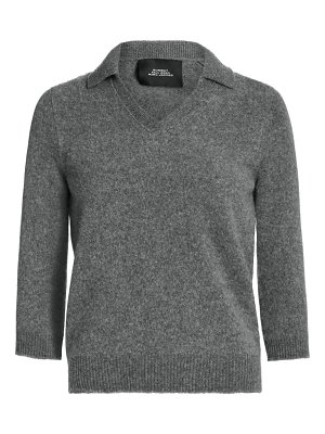 Runway Marc Jacobs cropped wool & cashmere polo top