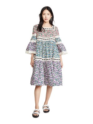 Runway Marc Jacobs tiered prairie dress with flared sleeves