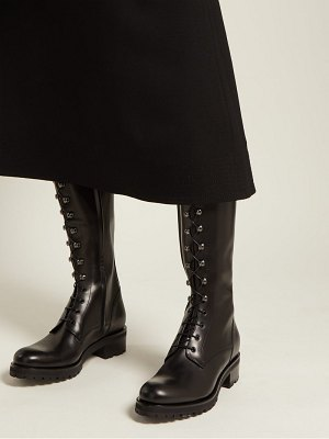 RUPERT SANDERSON Duncan lace-up knee-high leather boots