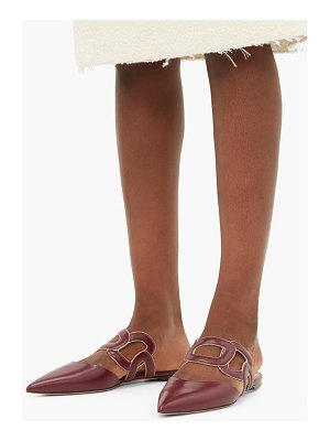RUPERT SANDERSON mannequin chain embellished leather mules
