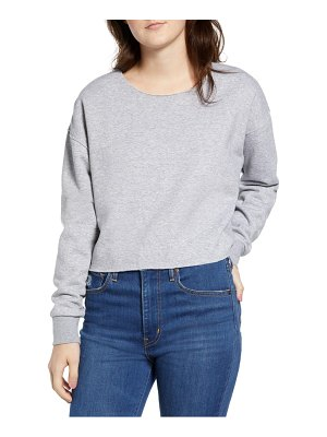 RVCA stranger raw edge sweatshirt