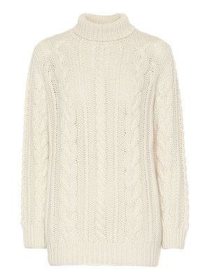 Ryan Roche cashmere cable-knit sweater