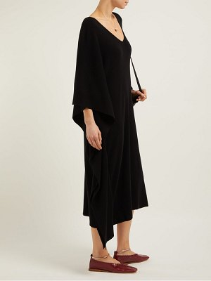 Ryan Roche draped cashmere kaftan midi dress