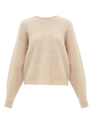 Ryan Roche dropped shoulder cashmere blend sweater