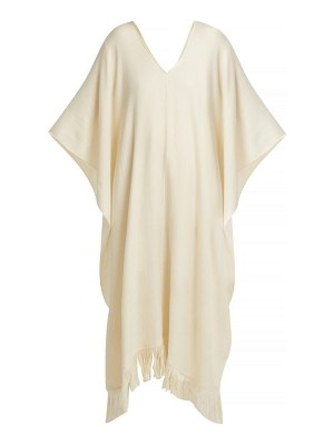 Ryan Roche fringe trimmed cashmere poncho