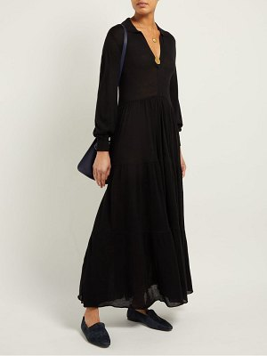 Ryan Roche gathered cashmere maxi dress
