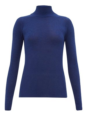 Ryan Roche ribbed cashmere roll-neck sweater