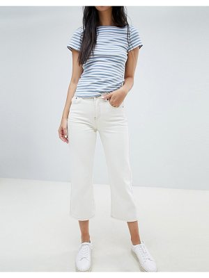 Ryder cropped kick flare white jeans
