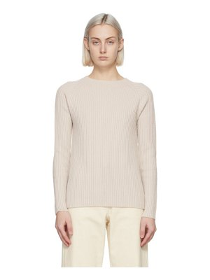 S MAX MARA beige wool freddy sweater