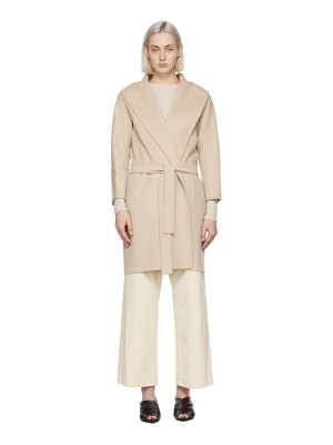 S MAX MARA beige wool messi coat