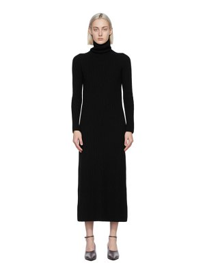 S MAX MARA black wool altea turtleneck dress