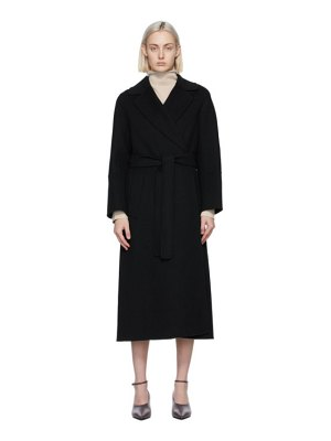 S MAX MARA black wool elisa coat