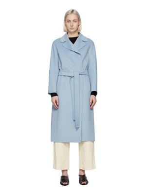 S MAX MARA blue wool aria coat