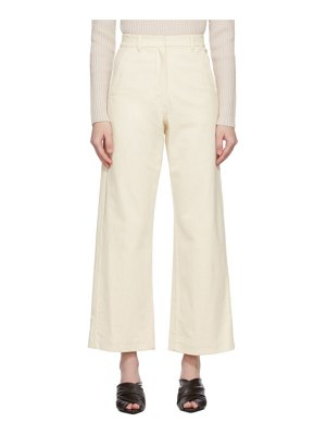 S MAX MARA off-white sesto trousers