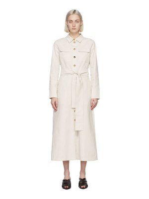 S MAX MARA off-white zinco dress