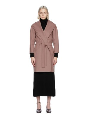 S MAX MARA pink wool messi coat