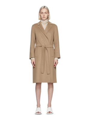 S MAX MARA tan wool pauline coat