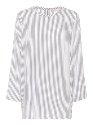 S MAX MARA valzer striped silk top