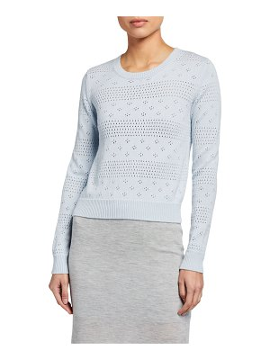 Sablyn Cashmere Pointelle Sweater