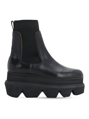 Sacai 40mm platform leather ankle boots