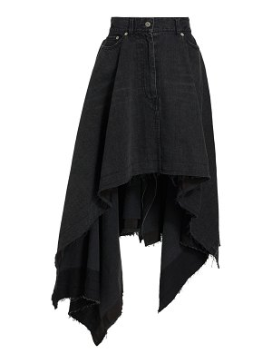 Sacai denim handkerchief midi skirt