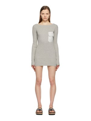 Sacai grey knit & twill dress
