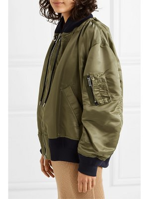 Sacai ma-1 melton oversized shell bomber jacket