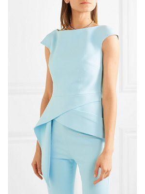 Safiyaa lillian asymmetric stretch-crepe peplum top