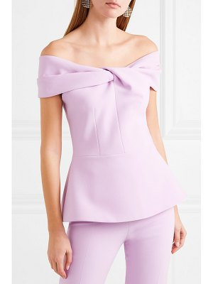Safiyaa off-the-shoulder twist-front cady top