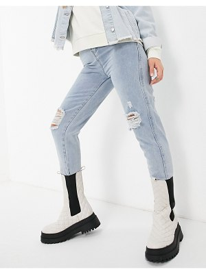 Saint Genies busted jean mom in light wash-blue