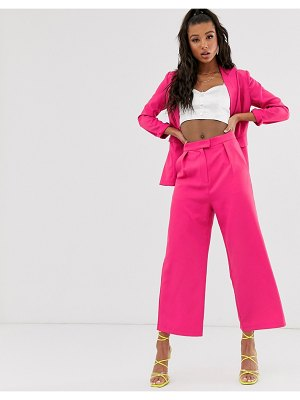 Saint Genies tailored wide leg pants in hot pink